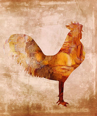 Digital Art - Flirty Rooster by Georgiana Romanovna