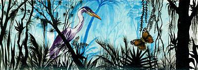 Artist Richard Brooks Painting - Flitterby by Richard Brooks