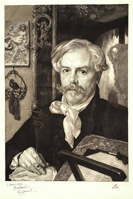 Félix Bracquemond French, 1833 - 1914. Portrait Of Edmond Art Print