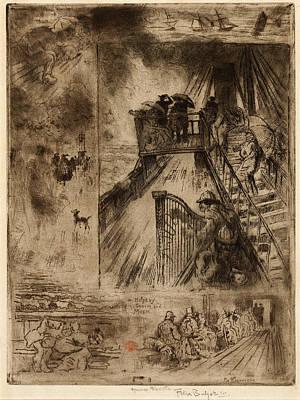 Félix-hilaire Buhot, La Traversée The Passage, French Art Print