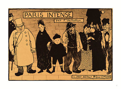Intense Drawing - Flix Vallotton, Frontispiece From Paris Intense by English School