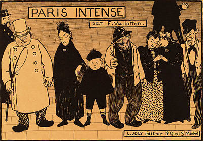 Intense Drawing - Flix Vallotton, Frontispiece From Paris Intense by Litz Collection