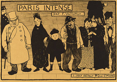 Intense Drawing - Félix Vallotton, Frontispiece From Paris Intense by Quint Lox