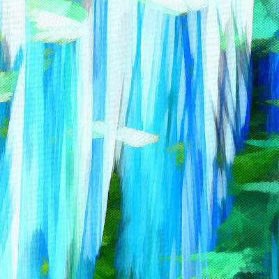 Digital Art - Float 1 Excerpt by Angelina Tamez