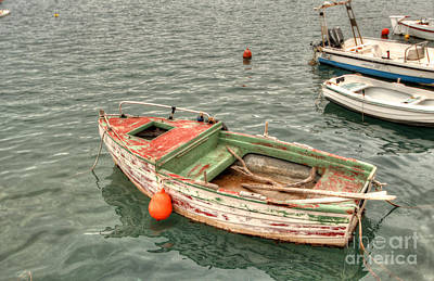 Greek Photograph - Float Your Boat by Deborah Smolinske