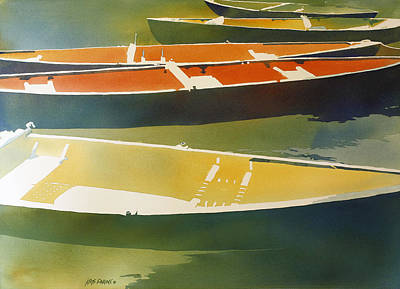 Paddling Painting - Floaters by Kris Parins
