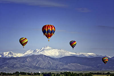 Floating Above Longs Peak Art Print