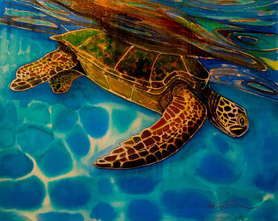 Painting - Floating At The Surface by Kelly  ZumBerge