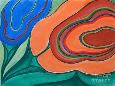 Pastel - Floating Blossoms by Birgit Seeger-Brooks