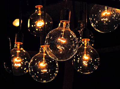Photograph - Floating Bulbs by Bob Wall