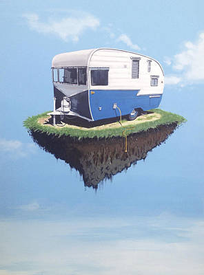 Camper Painting - Floating Camper by Jeffrey Bess