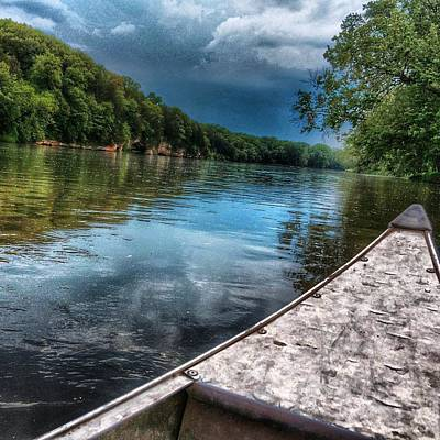 Photograph - Floating Down The Fox River by Nick Heap