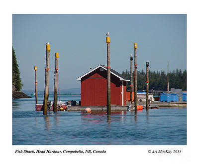 Floating Fish Shack Bay Of Fundy Nb Art Print