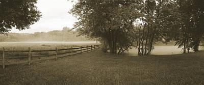 Floating Fog Fields Original by Jan W Faul