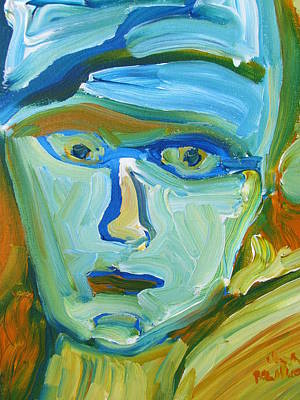 Art Print featuring the painting Floating Head by Shea Holliman