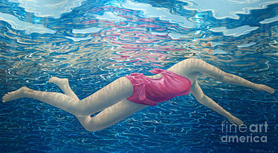 3-dimensional Painting - Floating In The Light I by David Ardley