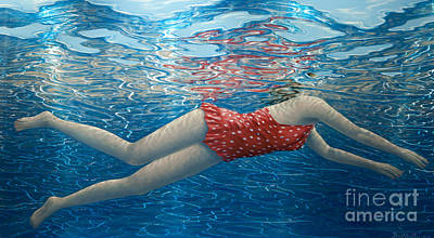 3-dimensional Painting - Floating In The Light II by David Ardley