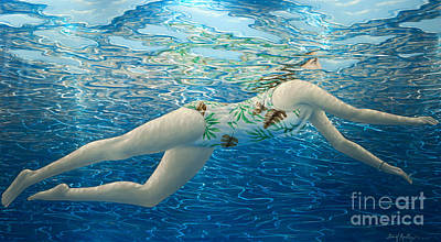 3-dimensional Painting - Floating In The Light IIi by David Ardley