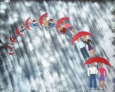 Painting - Floating In The Rain by Ron Davidson