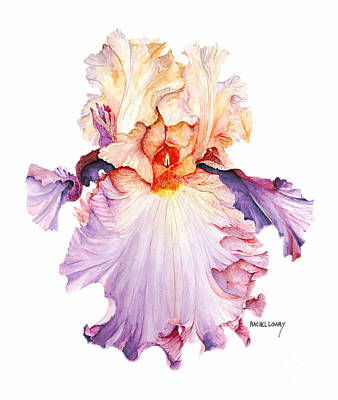 Art Print featuring the painting Floating Iris 2 by Rachel Lowry