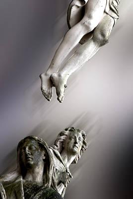 Floating Jesus And Mourners Bruges Belgium Original by John Hanou