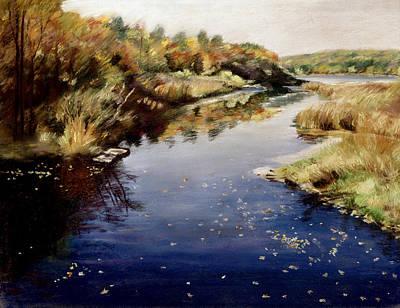 Pastel - Floating Leaves by Nancy Yang