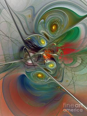 Floating Lightness-abstract Art Art Print by Karin Kuhlmann