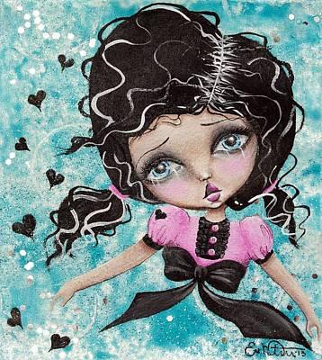 Floating Art Print by Lizzy Love of Oddball Art Co