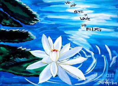 Painting - Floating Lotus by Jayne Kerr