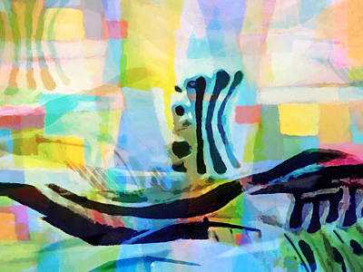 Impressionist Mixed Media - Floating by Lutz Baar