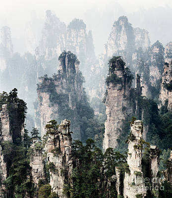 Landscape Photograph - Floating Mountains Zhangjiajie National Forest Park by Oleksiy Maksymenko
