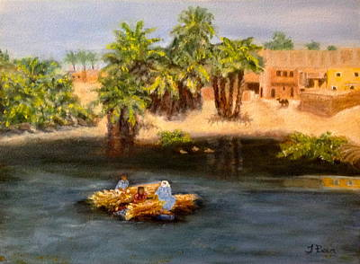 Painting - Floating On The Nile by Tracey Peer