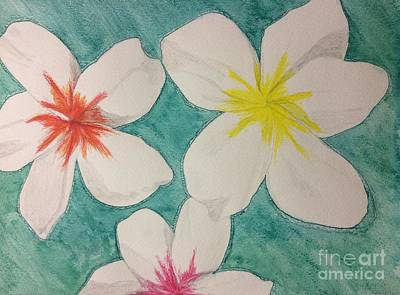 Painting - Floating Plumeria by Denise Railey