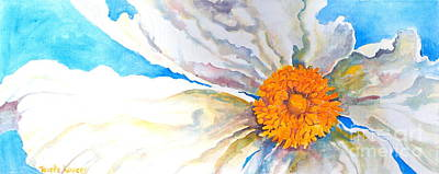 Golden Mean Painting - Floating  Poppy by Reveille Kennedy