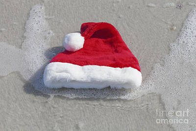Photograph - Floating Santa Hat by Diane Macdonald