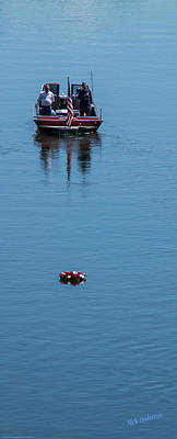 Photograph - Floating The Memorial Day Wreath by Mick Anderson