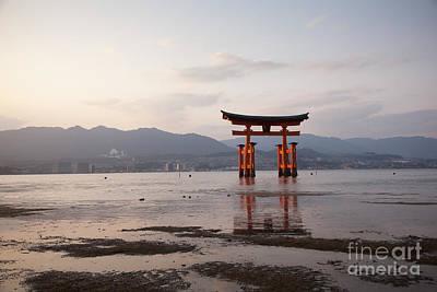 Floating Torii Photograph - Floating Torii Gate Of Itsukushima Miyajima by Ei Katsumata
