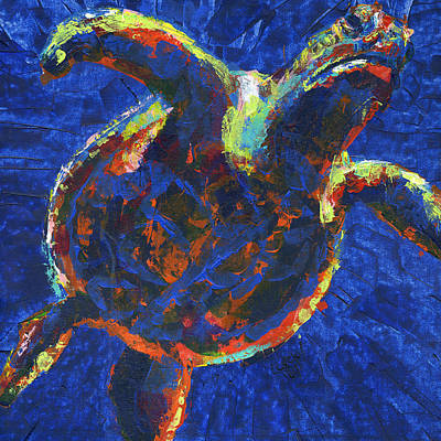 Floating Turtle Art Print by Lovejoy Creations