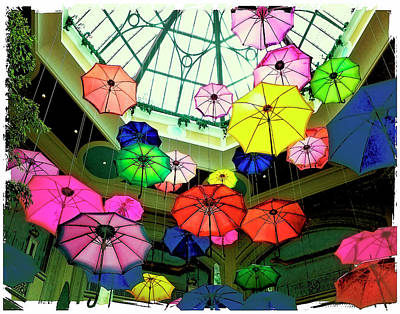 Photograph - Floating Umbrellas In Las Vegas  by Susan Stone