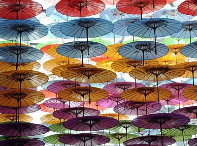 Photograph - Floating Umbrellas by Mark Sullivan