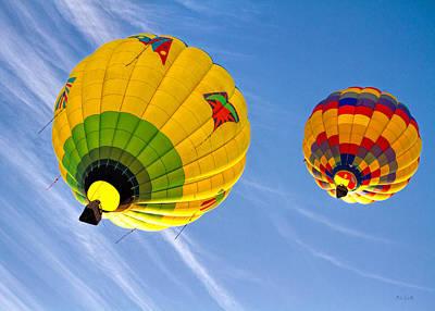 Photograph - Floating Upward Hot Air Balloons by Bob Orsillo