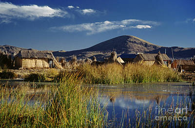 Photograph - Floating Village Lake Titicaca Peru by Craig Lovell
