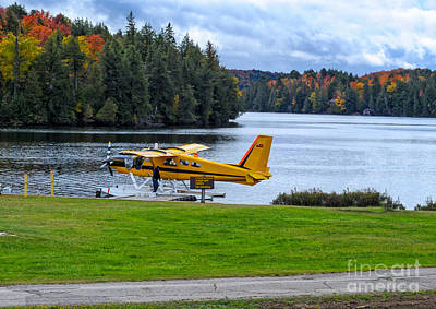 Photograph - Floatplane In Fall by Les Palenik