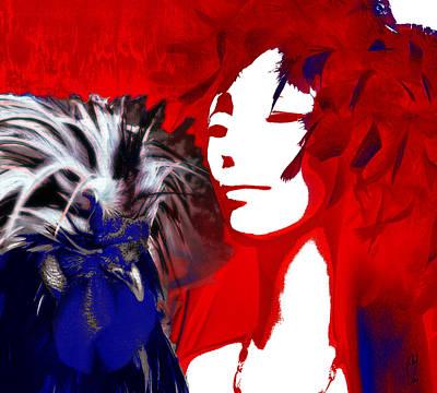 Digital Art - Flock by Maria Jesus Hernandez