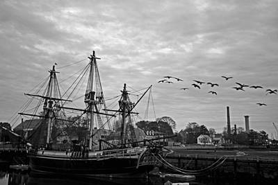 Photograph - Flock Of Birds Over The Salem Friendship by Toby McGuire