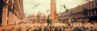 Of Birds Photograph - Flock Of Pigeons Flying, St. Marks by Panoramic Images