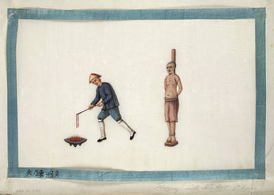 Flogging With Red Hot Chain Print by British Library