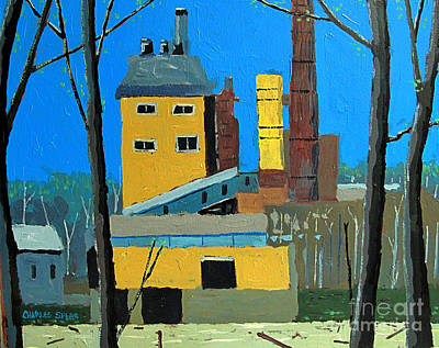 Flood By The Power Plant Original by Charlie Spear
