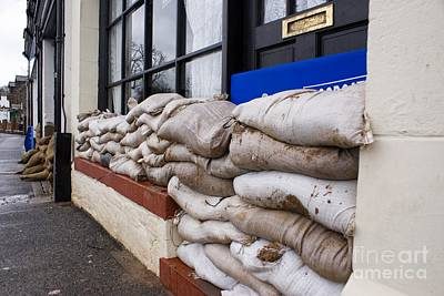 Sand Bags Photograph - Flood Defenses by Mark Williamson