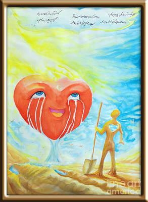 Future Of Society Painting - Flood Of Love by Hamid Goodarzi